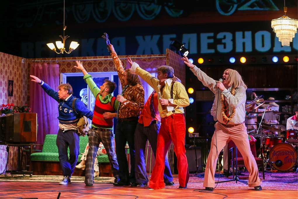 Rehearsal of Energetic People production staged by Sergei Bezrukov